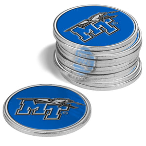 Middle Tenn. State Blue Raiders - 12 Pack Ball Markers