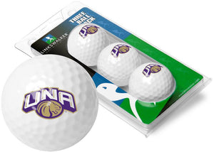 North Alabama Lions - 3 Golf Ball Sleeve