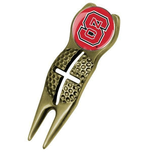 NC State Wolfpack - Crosshairs Divot Tool  -  Gold - Linkswalkerdirect