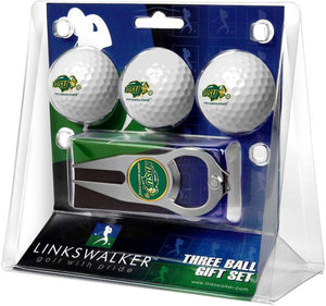 North Dakota State Bison - 3 Ball Gift Pack with Hat Trick Divot Tool