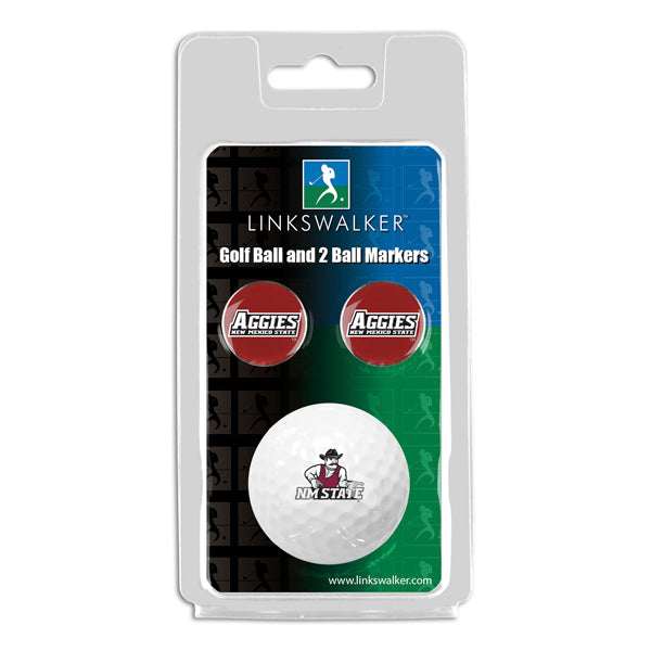 New Mexico State Aggies - Golf Ball and 2 Ball Marker Pack