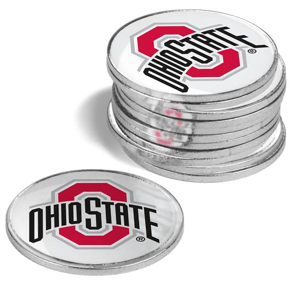 Ohio State Buckeyes - 12 Pack Ball Markers