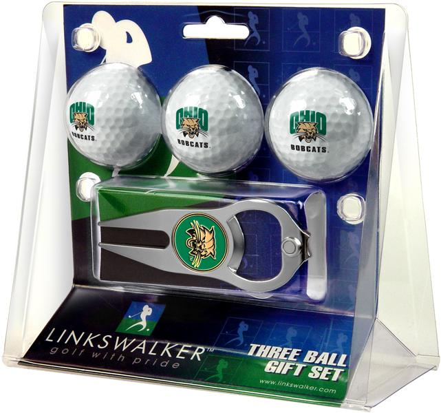 Ohio University Bobcats - 3 Ball Gift Pack with Hat Trick Divot Tool
