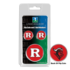 Rutgers Scarlet Knights - Flip Coin and 2 Golf Ball Marker Pack