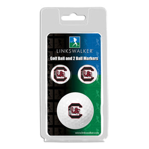 South Carolina Gamecocks - Golf Ball and 2 Ball Marker Pack
