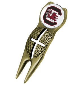 South Carolina Gamecocks - Crosshairs Divot Tool  -  Gold - Linkswalkerdirect