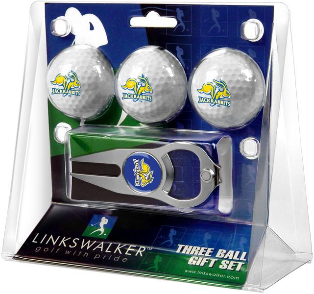 South Dakota State Jackrabbits - 3 Ball Gift Pack with Hat Trick Divot Tool