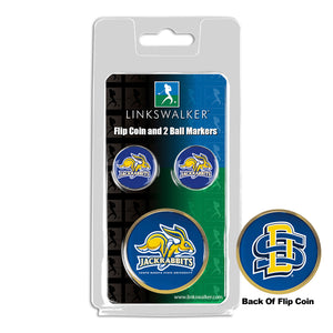 South Dakota State Jackrabbits - Flip Coin and 2 Golf Ball Marker Pack