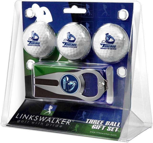 San Diego Toreros - 3 Ball Gift Pack with Hat Trick Divot Tool