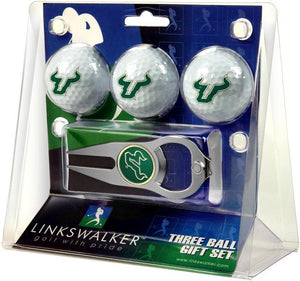 South Florida Bulls - 3 Ball Gift Pack with Hat Trick Divot Tool