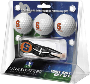 Syracuse Orange - Black Crosshair Divot Tool 3 Ball Gift Pack