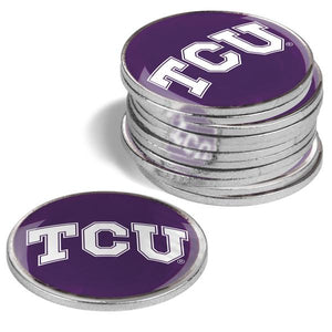 Texas Christian Horned Frogs - 12 Pack Ball Markers