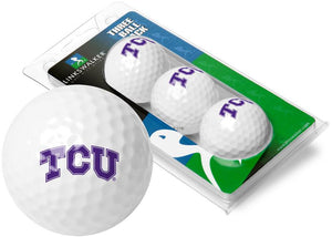Texas Christian Horned Frogs - 3 Golf Ball Sleeve