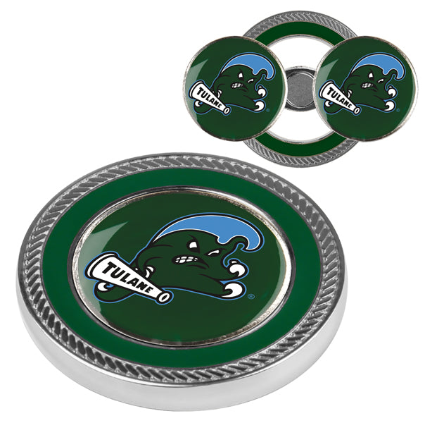 Tulane University Green Wave - Challenge Coin / 2 Ball Markers