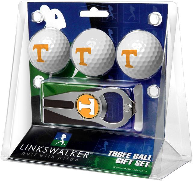 Tennessee Volunteers - 3 Ball Gift Pack with Hat Trick Divot Tool