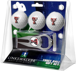 Texas Tech Red Raiders - 3 Ball Gift Pack with Hat Trick Divot Tool