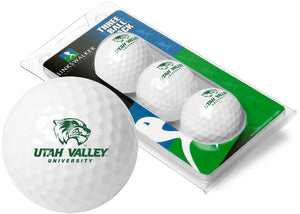 Utah Valley Wolverines - 3 Golf Ball Sleeve