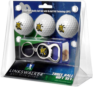 Wichita State Shockers - 3 Ball Gift Pack with Key Chain Bottle Opener