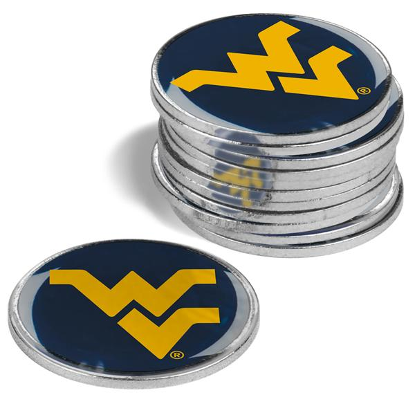 West Virginia Mountaineers - 12 Pack Ball Markers