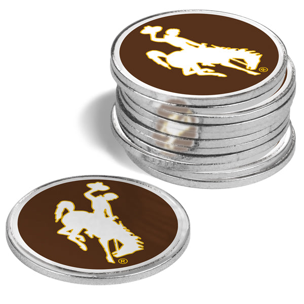 Wyoming Cowboys - 12 Pack Ball Markers