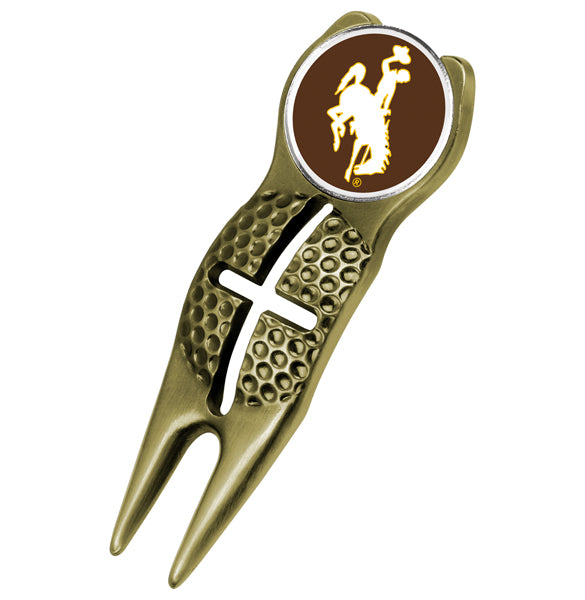 Wyoming Cowboys - Crosshairs Divot Tool  -  Gold