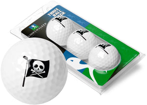 Linkswalker Pro-Victory Hoist The Colors Pirate Flag 3 Golf Ball Sleeve