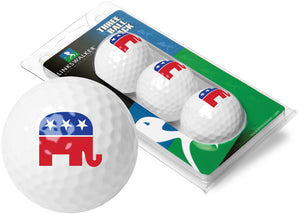 Linkswalker Pro-Victory Proud Republican USA 3 Golf Ball Sleeve