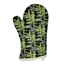 Load image into Gallery viewer, Pre-order: Tropical Zebras Oven Glove