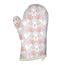 Load image into Gallery viewer, Pre-order: Floral Flamingo Oven Glove