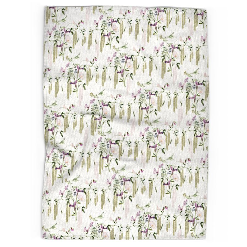 Pre-order: Sweet Pea and Willow Tea Towel