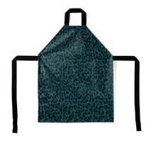 Load image into Gallery viewer, Teal Leopard Print Apron