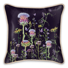 Load image into Gallery viewer, Artichoke Thistle Silk Cushion