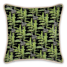 Load image into Gallery viewer, Pre-order: Tropical Zebras Silk Cushion