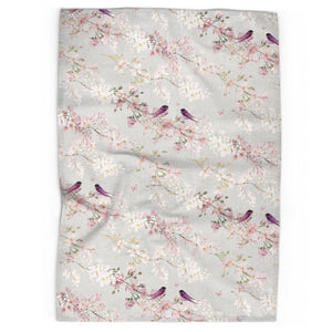 Chateaux Birds Tea Towel