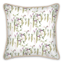 Load image into Gallery viewer, Chateaux Birds Silk Cushion