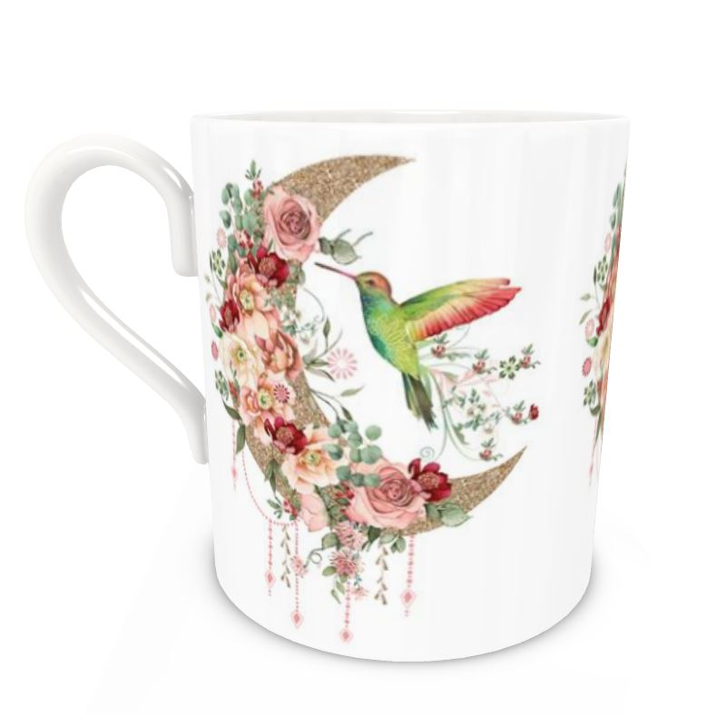 Pre-order: Hummingbird and Moon Bone China Mug