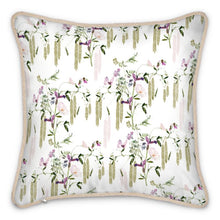 Load image into Gallery viewer, Pre-order: Pink Butterfly Floral Silk Cushion
