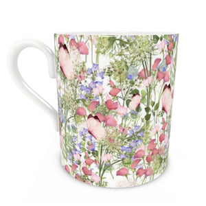 Butterfly and Floral Bone China Mug