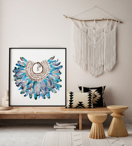 Azure Feathers Print - Limited Edition