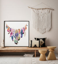 Load image into Gallery viewer, Feather Garland Print - Limited Edition