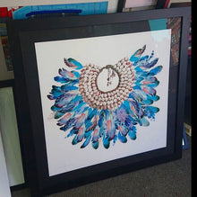 Load image into Gallery viewer, Azure Feathers Print - Limited Edition
