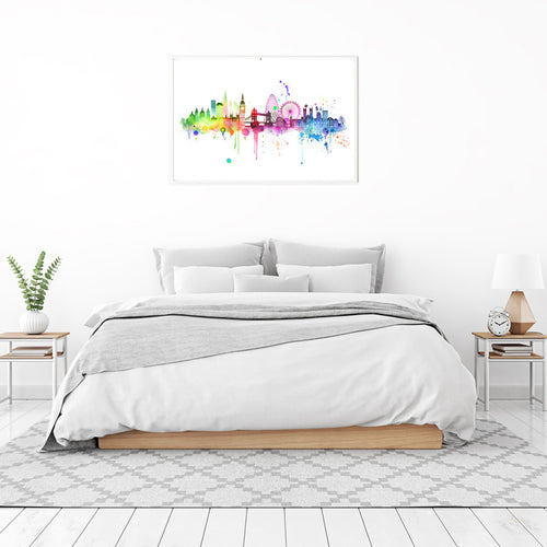 Rainbow London Skyline Print - Limited Edition