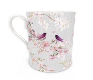 Chateaux Birds Bone China Mug