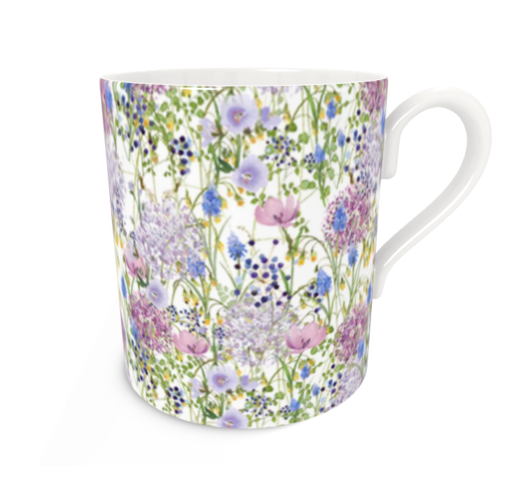 Pre-order: Allium Floral Bone China Mug