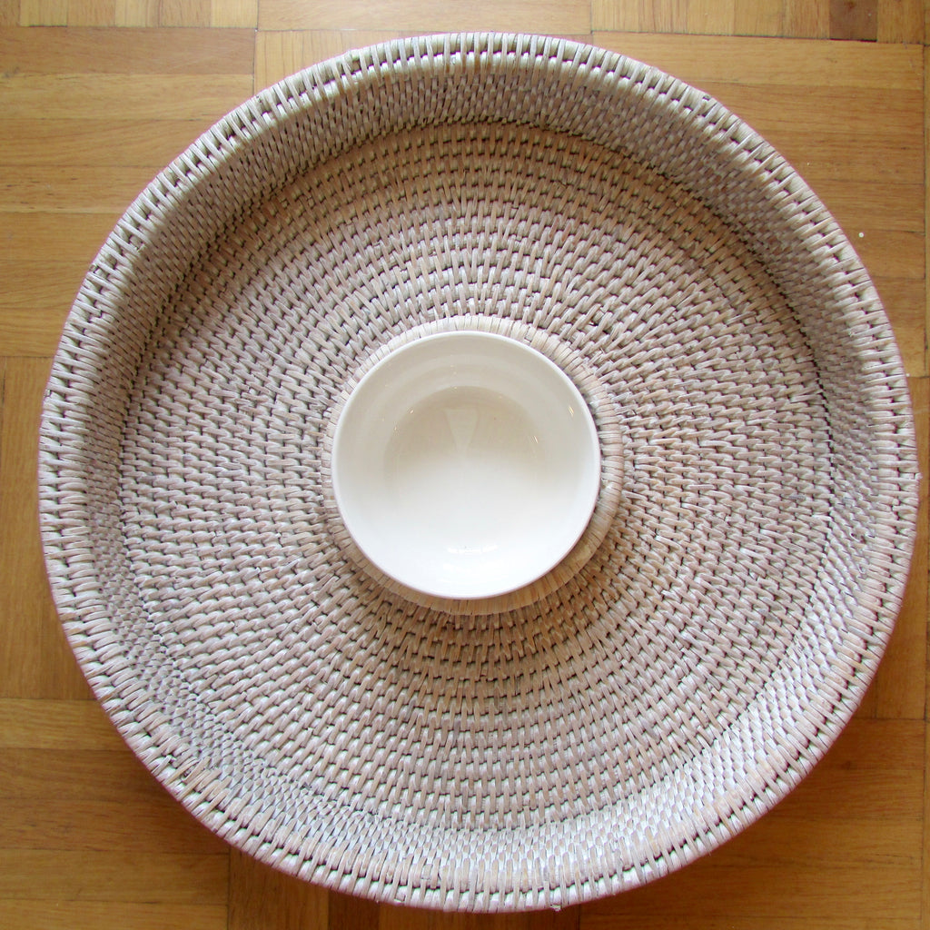 Chip n Dip Tray Whitewash