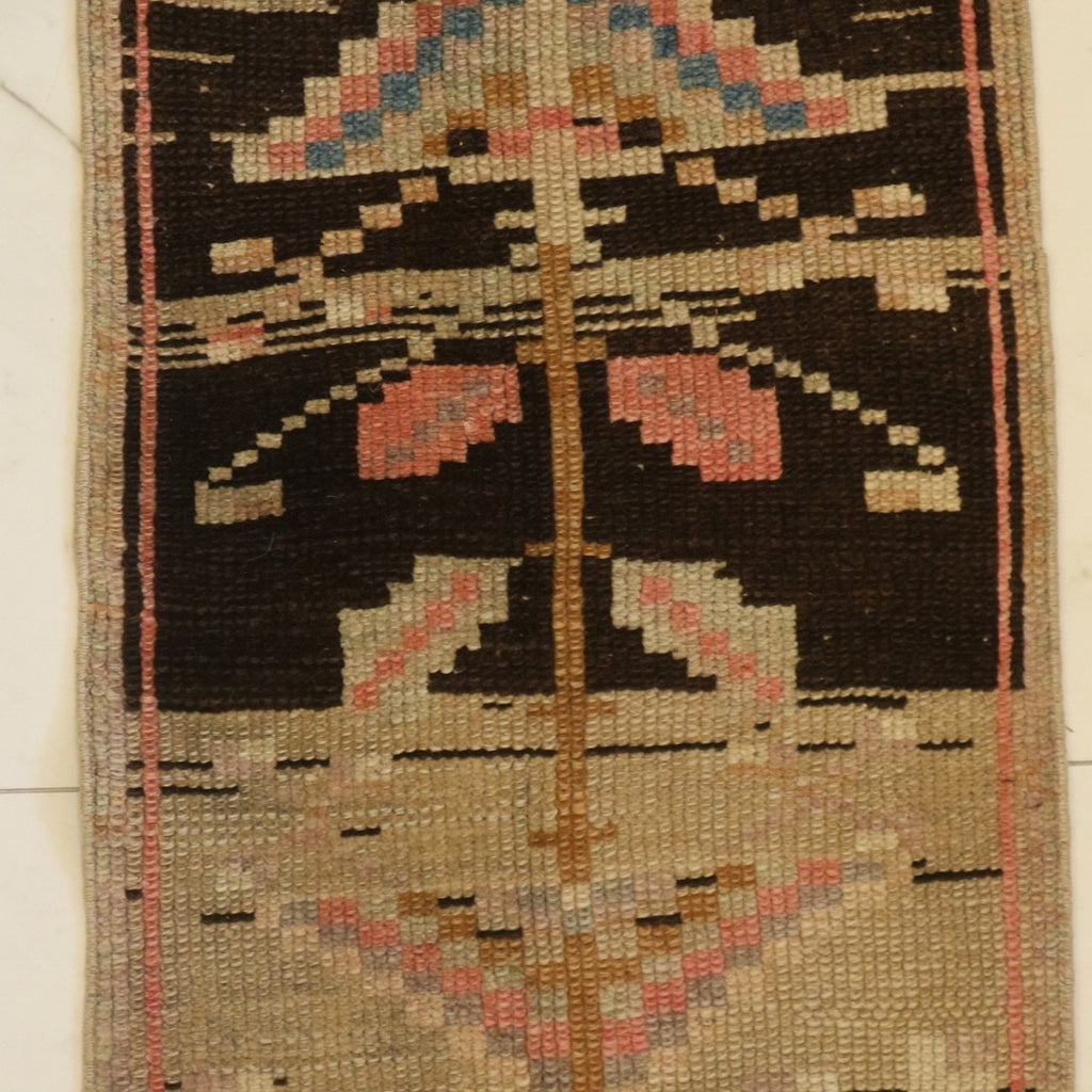 Rug 4 - Brown w/ Pink, Lavender, & Blue