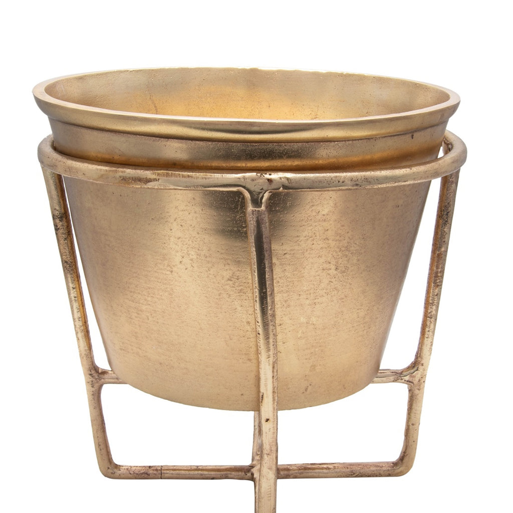 Small Antique Brass Wine Cooler