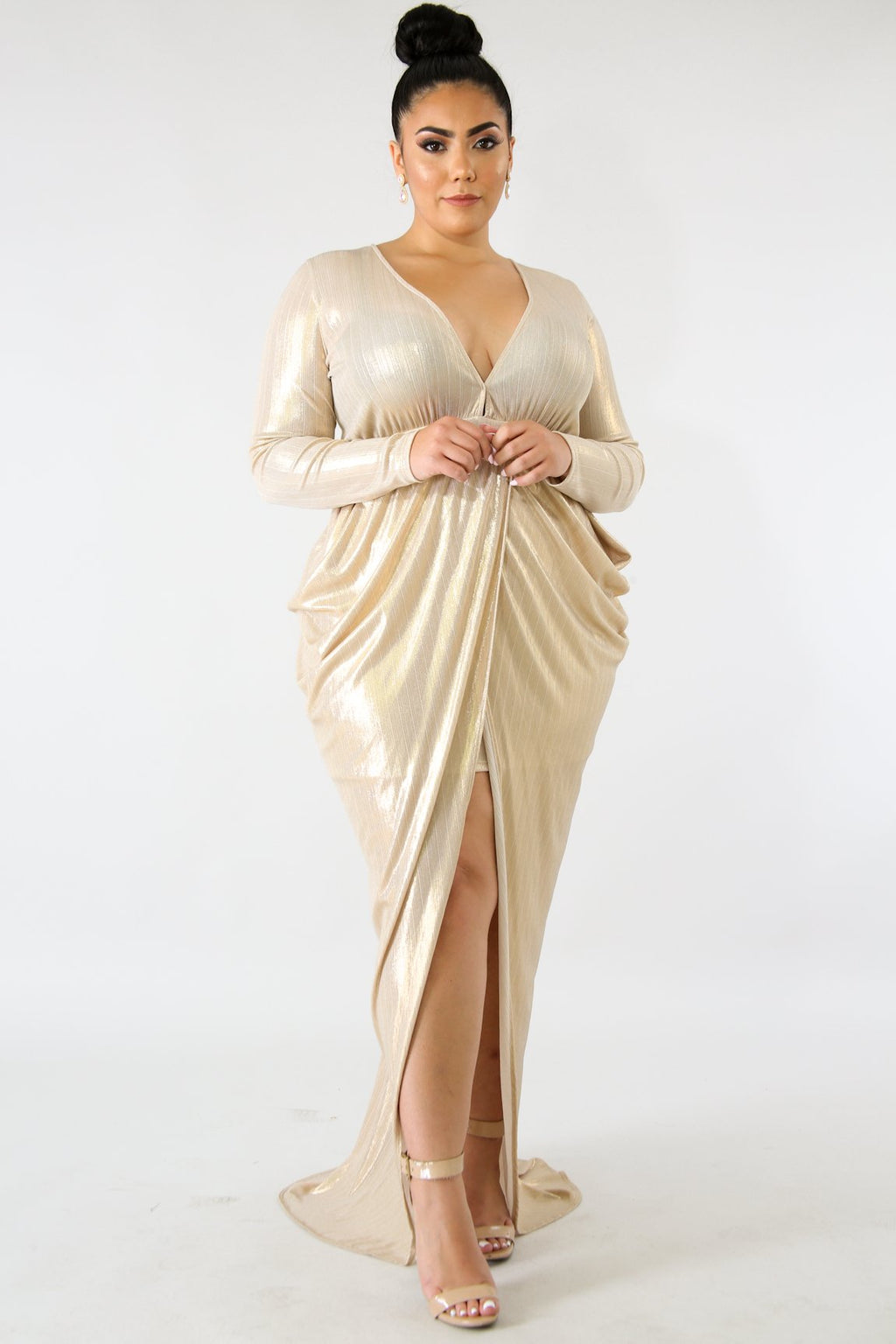 Golden Goddess Maxi Dress + - The Purple Elixir Boutique
