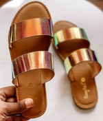 Unicorn Iridescent Sandals