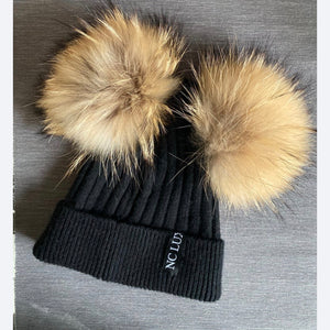 Double Ponpom Hat